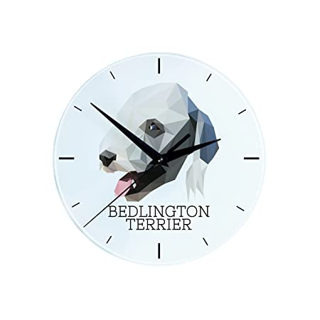 Bedlington terrier wall clock with an image of a dog geometric bedlington terrier wall clock with an image of a dog geometric ccuart Choice Image