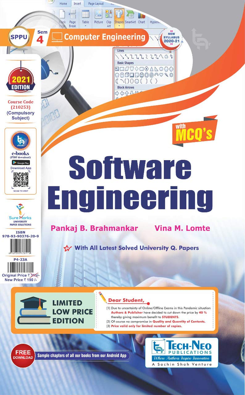 Software Engineering with MCQ's For SPPU Sem 4 Computer