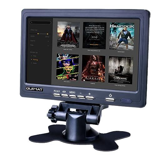 Monitor hd 7 pulgadas, Pantalla TFT-LCD 1024*600 2AV/VGA/HDMI Quimat (QSC7J): Amazon.es: Electrónica