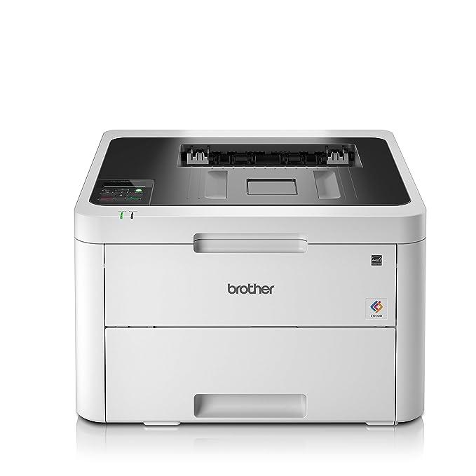 Brother HL-L3230CDW - Impresora láser color (WiFi, LED, USB 2.0, 256 MB, 800 MHz, 18 ppm, 390 W) blanco