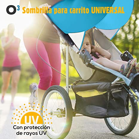 Sombrilla Carrito Bebe Universal Con Mosquitera Carro Bebe Universal - Sombrilla Carrito Bebe - Toldo Para Carrito/Silla De Paseo - Parasol Carrito ...