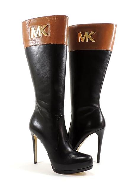 5f731f80cfb9 Michael Michael Kors Hayley Boot (Black/Luggage, 9.5): Amazon.ca: Shoes &  Handbags