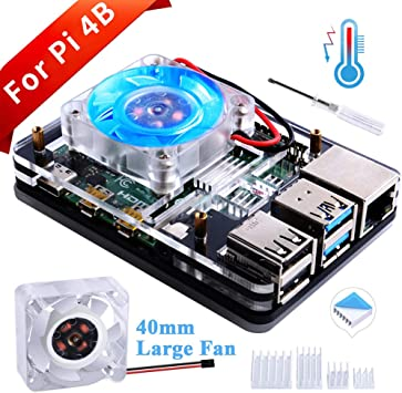 GeeekPi Cajas para Raspberry Pi 4 Modelo B,Raspberry Pi 4B Cajas ...