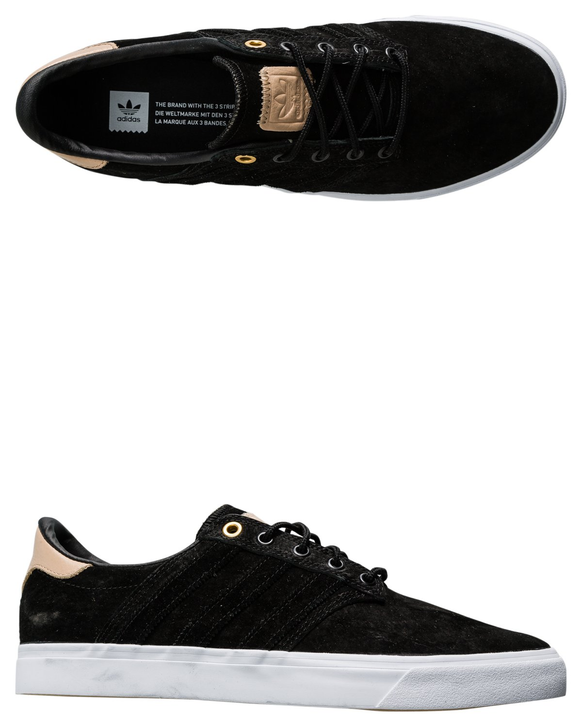 adidas Originals Men\'s Seeley Premiere Classified Fashion Sneaker Core Black/Pale Nude/Footwear White