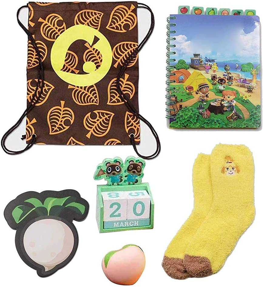 Including Blanket Notebook Calendar Peach Socks New Horizons Collectors Box FUSTMS Latest Animal Crossing New Horizons Collector Box Favourite Toy for Kids Notebook Blank Kit