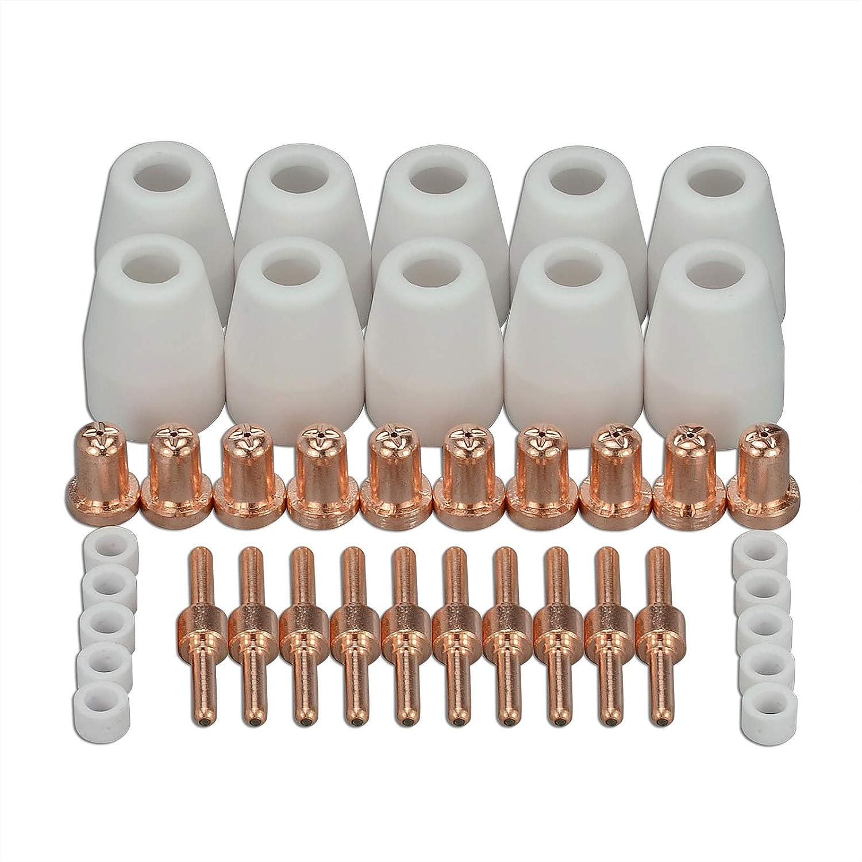 PT-31 LG-40 Plasma Tip Nozzle Electrode Extended Cutting Consumable CUT-50 CUT-40D 40pcs RIVERWELDstore