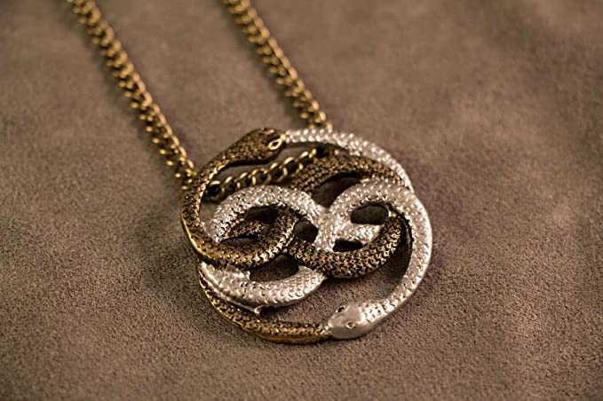 Amazon neverending story inspired two tone auryn pendant neverending story inspired two tone auryn pendant atreyus gold and silver necklace mozeypictures Choice Image