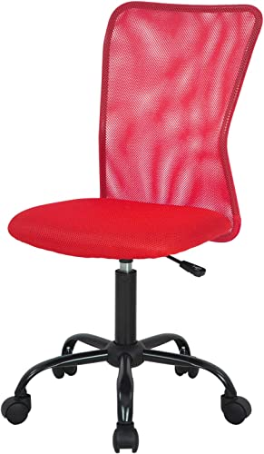 Home Office Chair Mid Back Mesh Desk Chair Armless Computer Chair Ergonomic Task Rolling Swivel Chair Back Support Adjustable Modern Chair