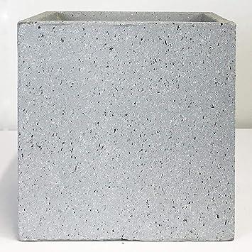 Idealist Square Concrete Planter Box Natural Grey