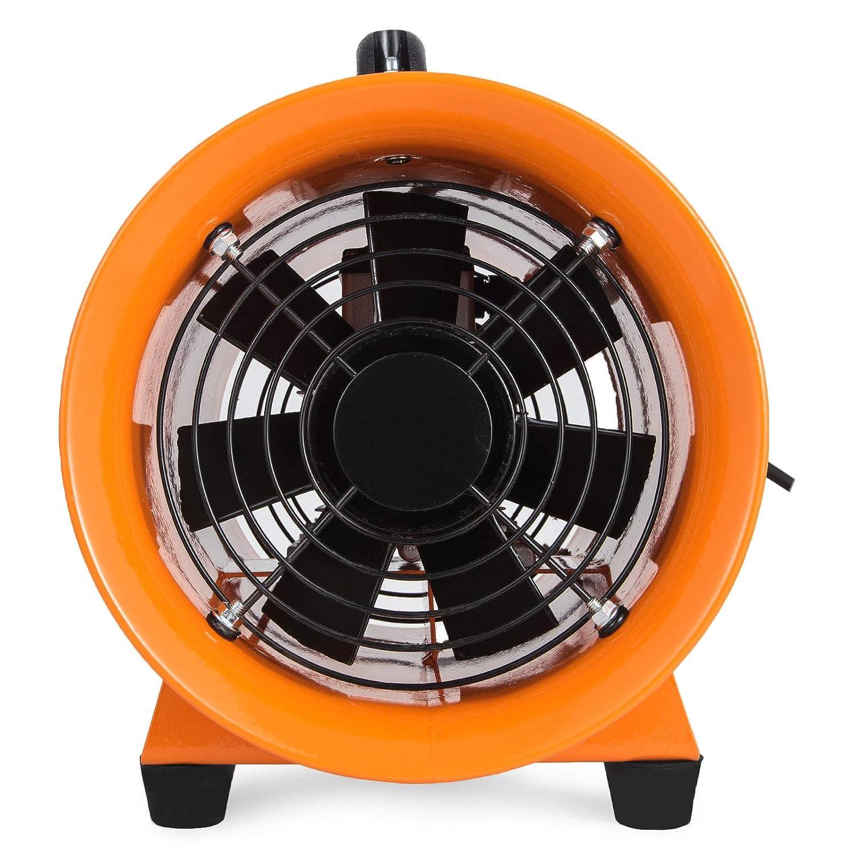 SucceBuy 220V Ventilateur Industriel Portable Axial de Diam/ètre 200mm Extracteur dAir Electrique Souffleur Commercial Conduit en PVC de 5m 8/″ avec conduit