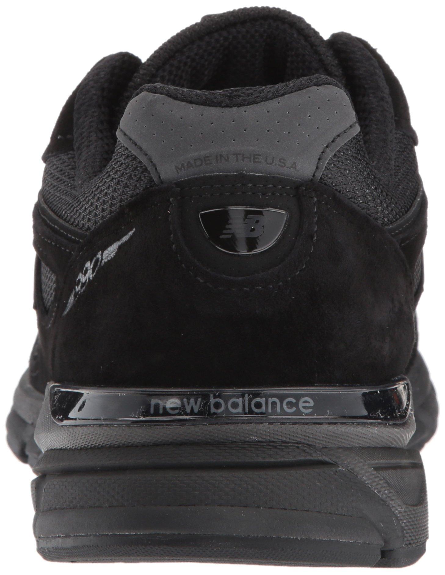 New Balance Men's 990V4 Running Shoe, Black/Black, 11 2E US by New Balance (Image #2)