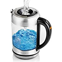 Ovente 1.7L, 1500W (120V) Electric Kettle (Silver)