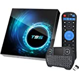 Android 10.0 TV Box with 4GB RAM 64GB ROM,EASYTONE T95 Android TV Boxes Quad-Core H616 Chip Support 6K Full HD 2.4G/5G Dual-B