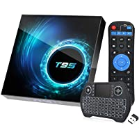 Android 10.0 TV Box with 4GB RAM 64GB ROM,EASYTONE T95 Android TV Boxes Quad-Core H616 Chip Support 6K Full HD 2.4G/5G…