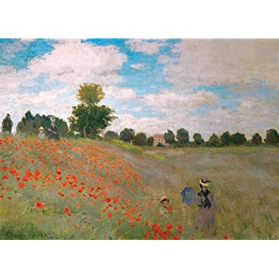 DDTOP Poppy Field Puzzles for Adults, Claude Monet Famous Canvas Oil Painting Poppies at Argenteuil 1000 Piece Puzzles, Challenge and Funny Famous Art Puzzle: Toys & Games