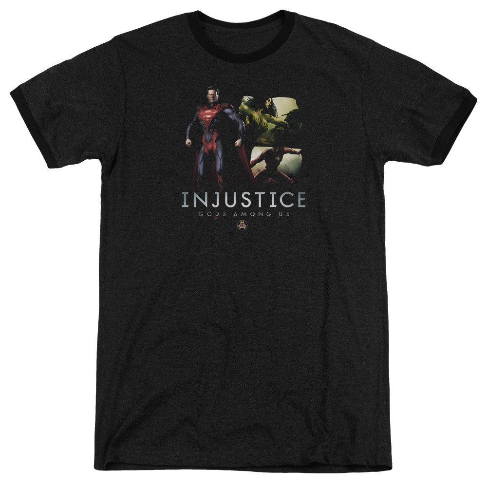 Shirt M Supermans Revenge Adult Ringer T Sons of Gotham Injustice Gods Among Us