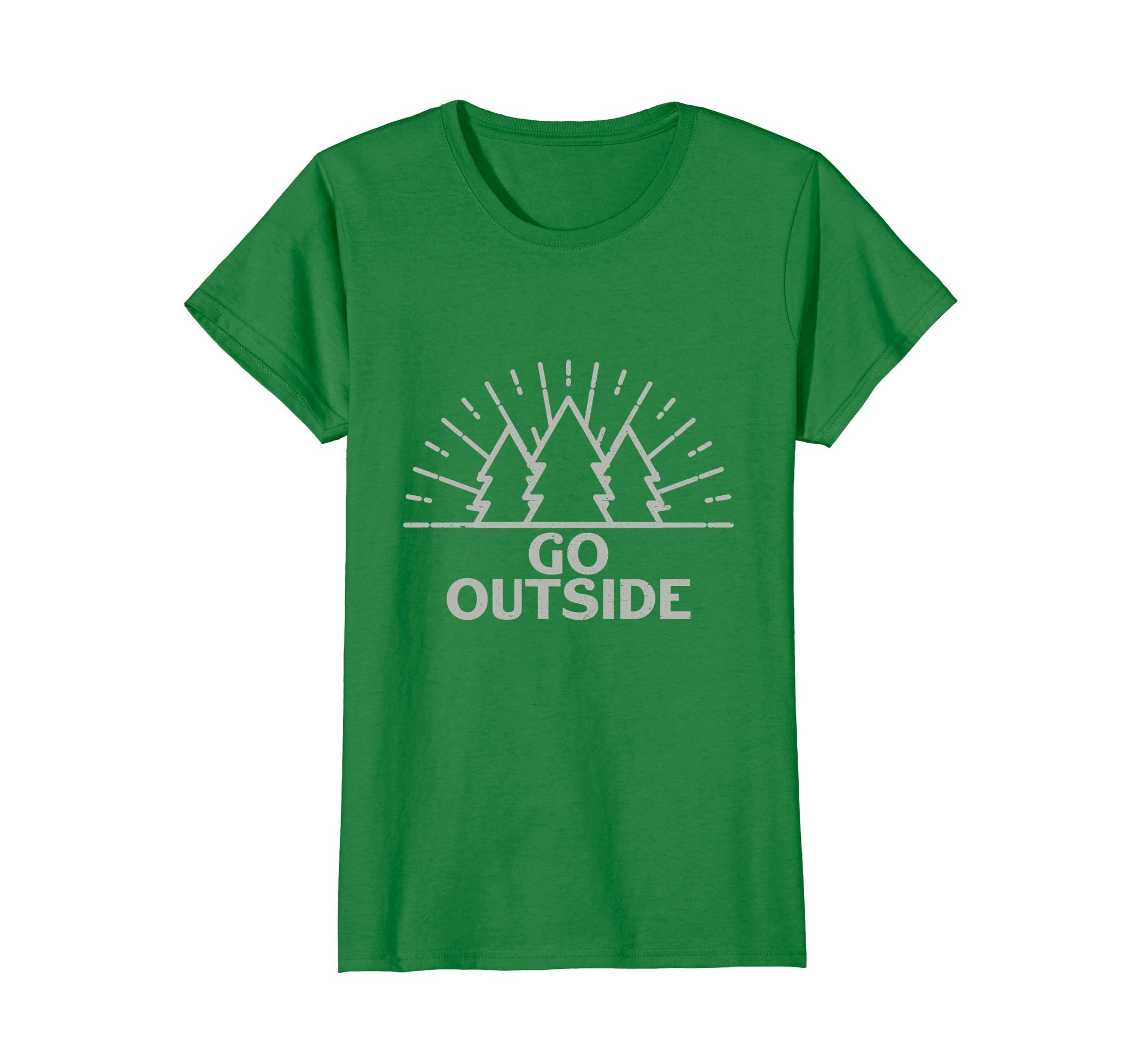 Womens Outdoor Forest Nature Go Outside T-Shirt for Life Lovers Tee XL Kelly Green