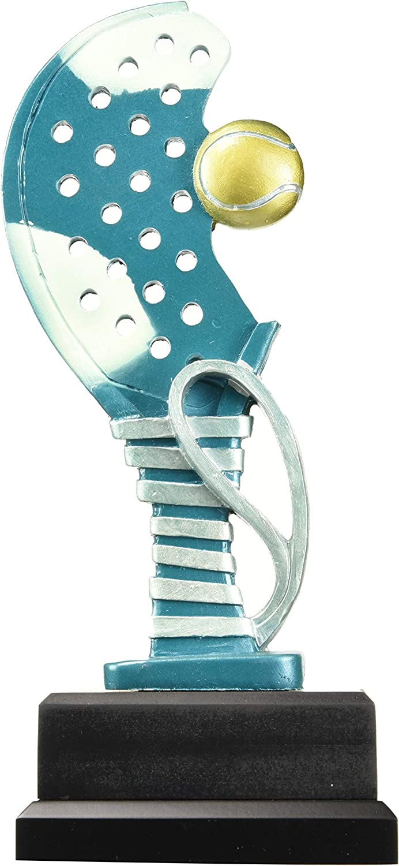Art-Trophies TP445 Trofeo Deportivo Raqueta Pádel, Azul, 26 cm ...