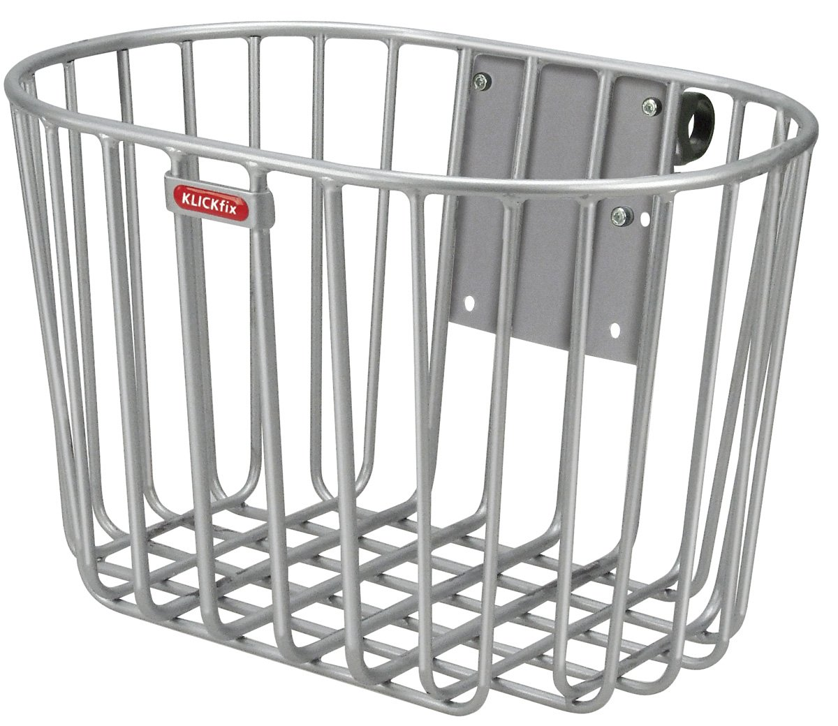 KlickFix Alumino Front Handlebar Basket grey