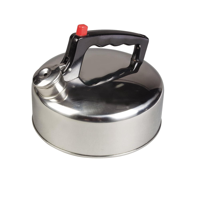 Flötenkessel leicht und robust aus rostfreiem Stahl mit Flip-top Deckel 2 Liter • Edelstahl Kessel Teekessel Wasserkessel Wasserkocher Teekanne Camping Outdoor Siehe Beschreibung
