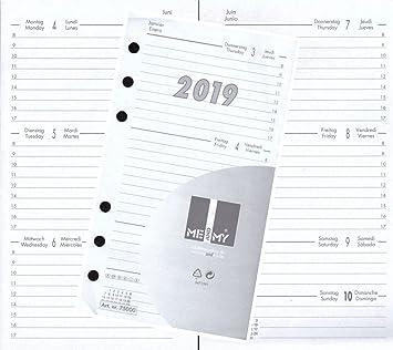 Kalendereinlage Kalender 2019 A6 Für Timer Zeitplaner 1 Woche 2