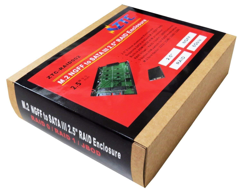 Amazon.com: ZTC RAID serie M.2 NGFF a SATA III 2.5 ...