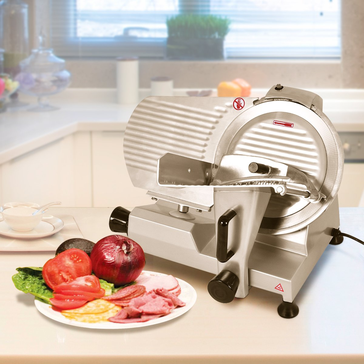 Tangkula 12'' Blade Commercial Meat Slicer Deli Meat Cheese Food Slicer Industrial