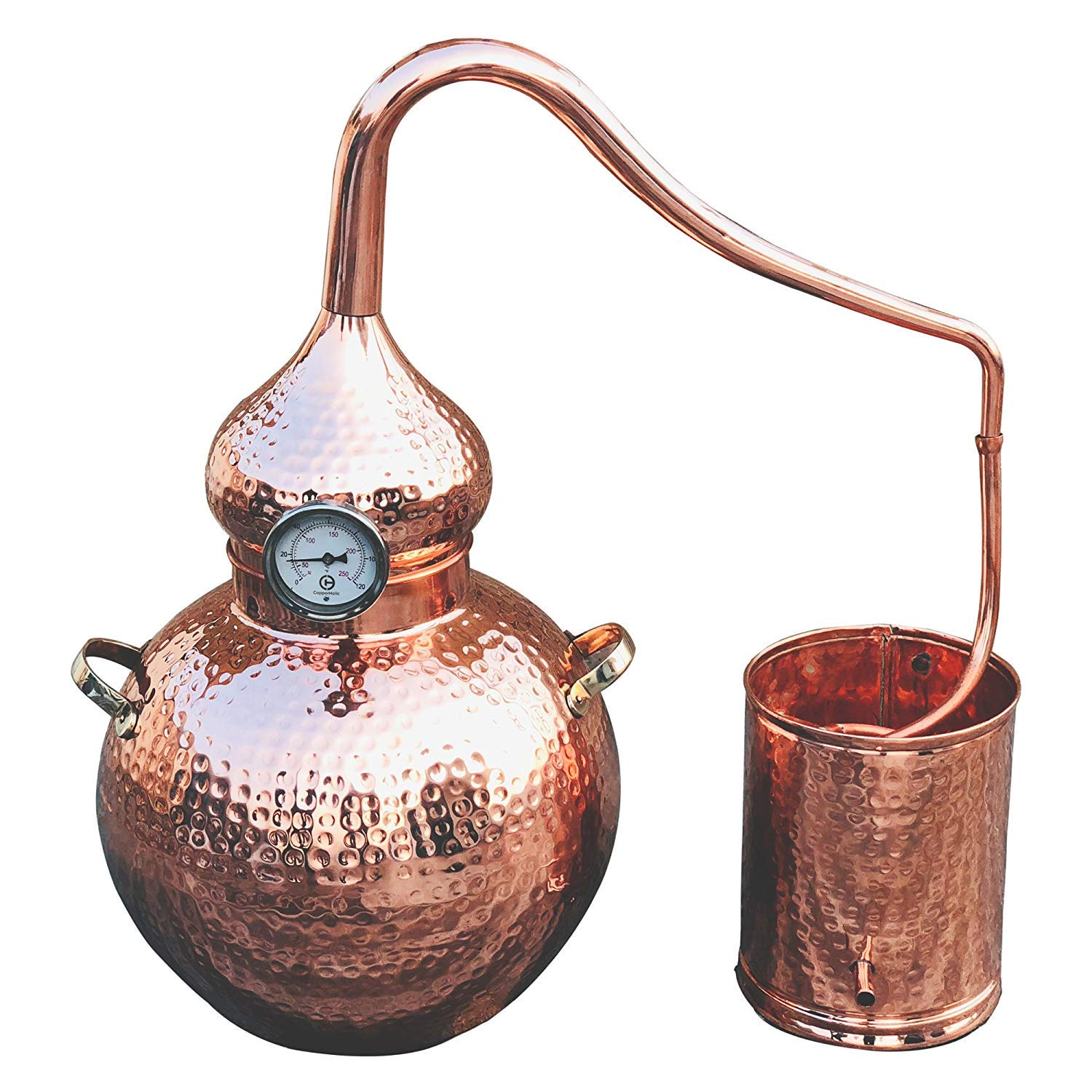 5 Gallon Pure Copper Alembic Still for whiskey, moonshine essential oils by Copperholic