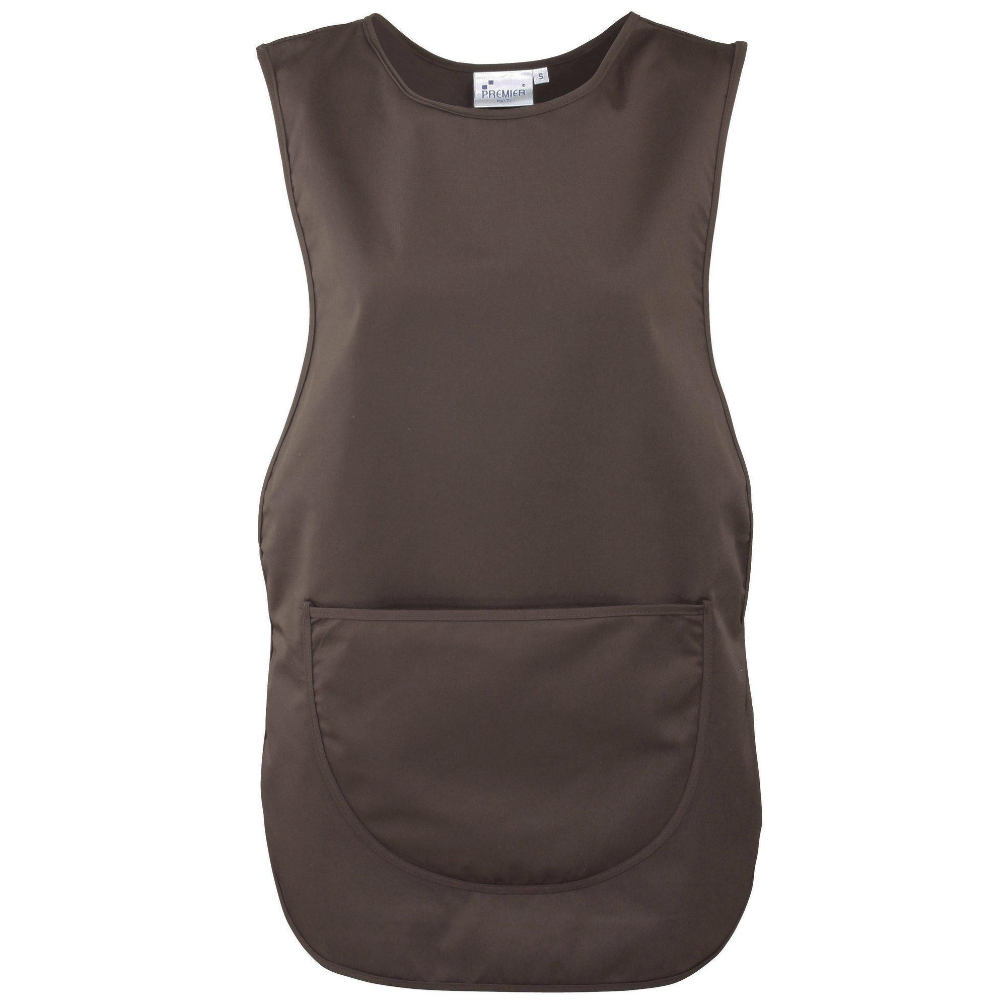 Premier Ladies/Womens Pocket Tabard/Workwear (3XL) (Brown) by Premier