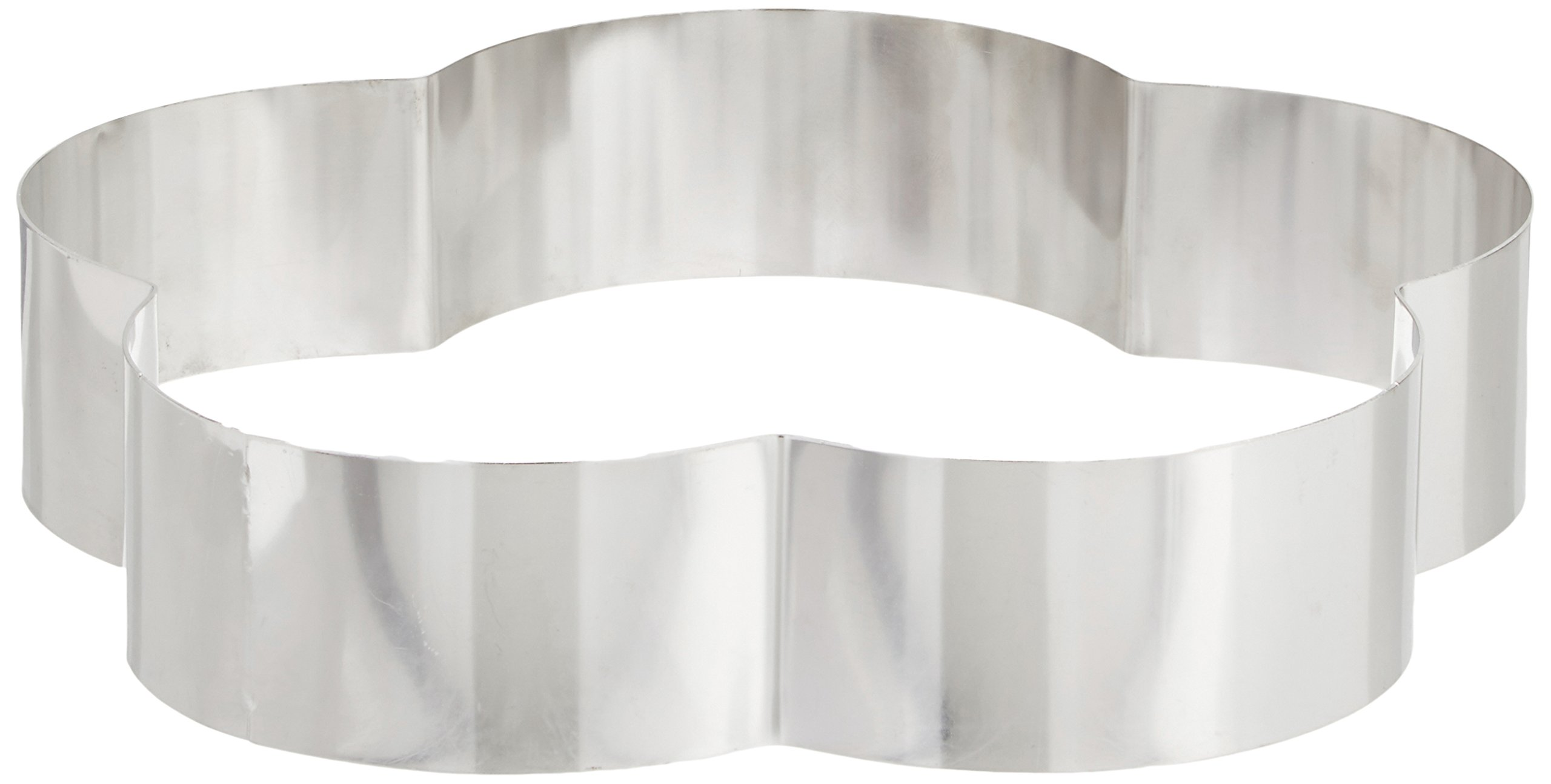 Fat Daddio's Stainless Steel Petal Cake and Pastry Ring, 10 Inch x 2 Inch
