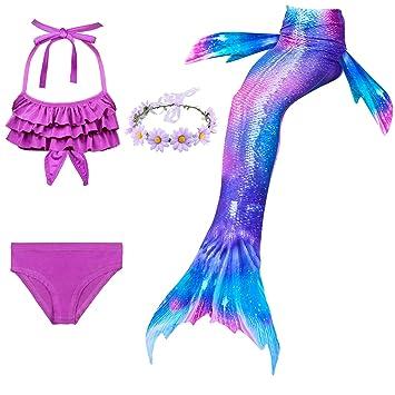 Jolie Sea-Maid Cola de Sirena Niña Traje de baño Mermaid ...