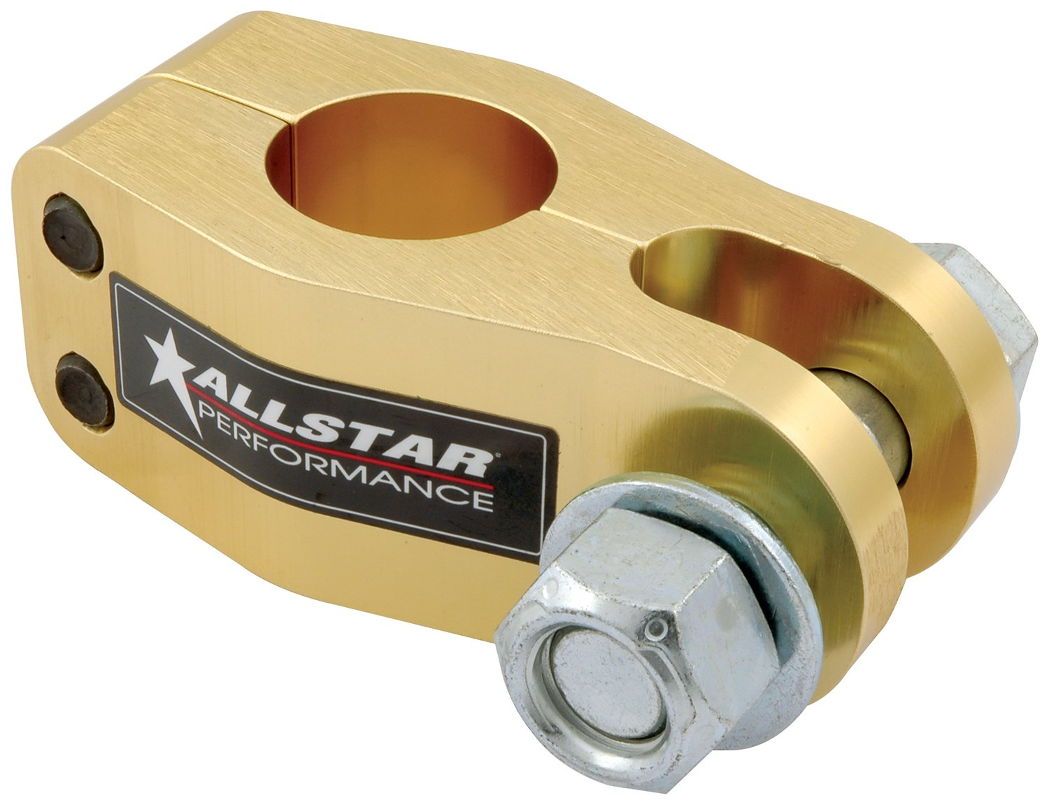 Allstar ALL60182 Gold Anodized Pan Hard Bar Clevis Clamp for 1-1/2'' Tubing by Allstar (Image #1)