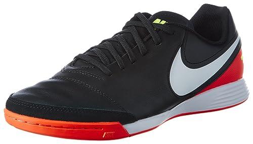 meet 5bbd5 e1b0a Nike Tiempox Genio II Leather IC, Scarpe da Calcetto Uomo, Nero (Black/