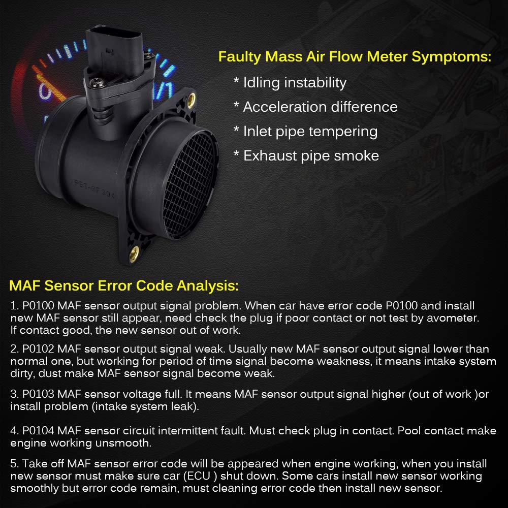 Faersi Mass Air Flow Sensor Meter Maf 0280218063 Circuit 06a906461l For Audi A4 Tt Vw Golf Jetta Beetle Passat 18t 02 06 01