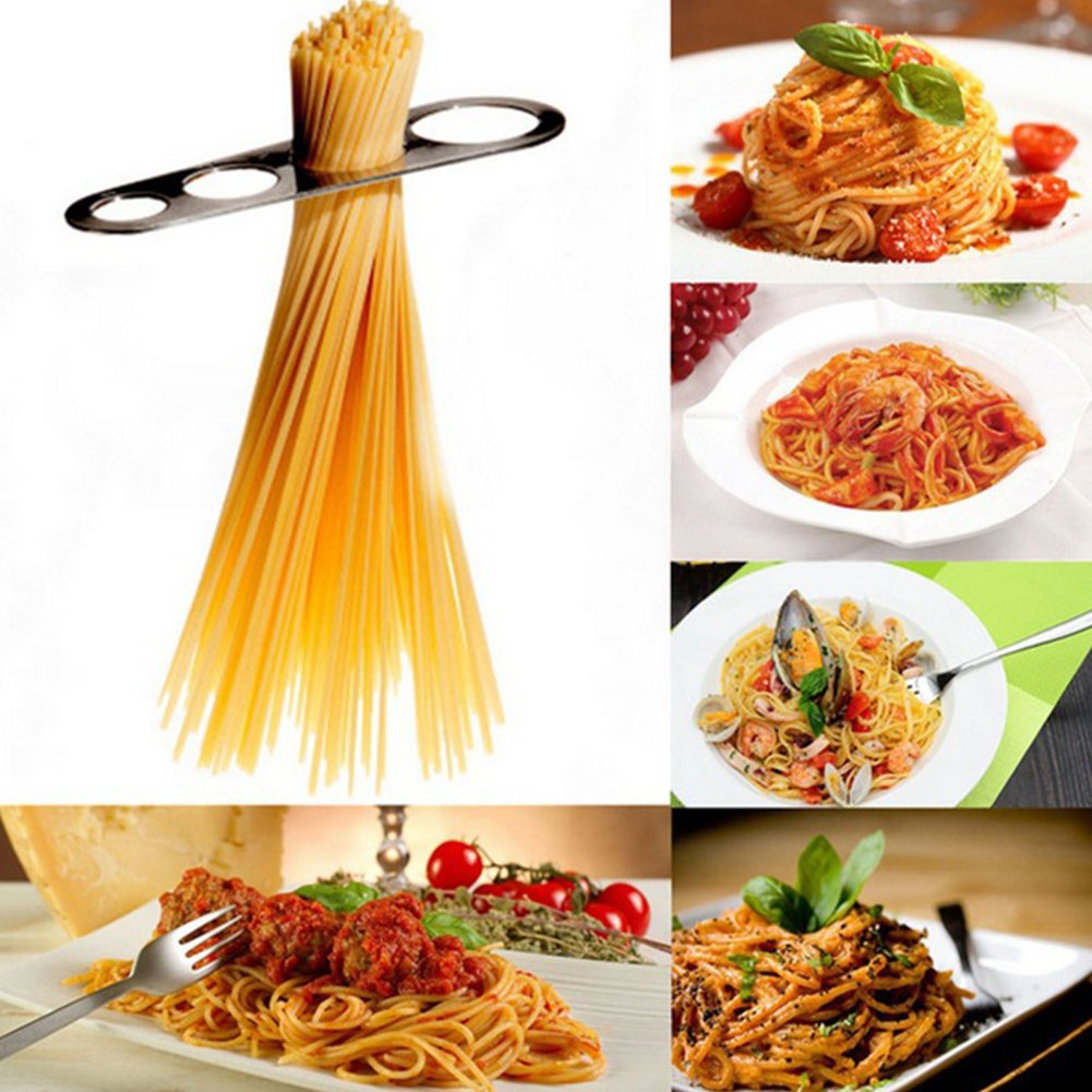 Stainless Steel Spaghetti Measure Measurer,Stainless Steel Spaghetti Pasta Measure Tool,4 Serving Portion Control Cooking Tools,Pasta Portion Control Gadgets(silver) by YOTHG (Image #4)