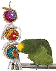Bird Chew Toy Parrot Macaw African Greys Budgies Parakeet Cockatoo Cockatiels Conure Lovebirds Cage Toy