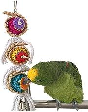 Jouet pour cage pour perruches, perroquets, calopsittes, conures, inséparables ou cacatoès