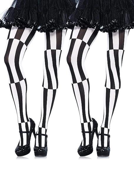 Leg Avenue Optical Illusion Black /& White Tights