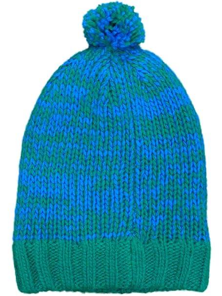 Amazon.com  So Womens Blue   Green Speckled Knit Beanie Stocking Pom ... 528cb72f52f