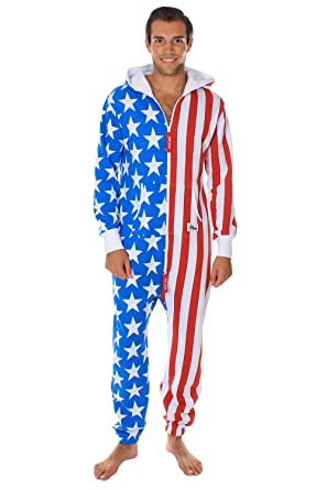 97fdbc567b4 Amazon.com  Tipsy Elves American Flag Jumpsuit - Comfy USA Clothing ...