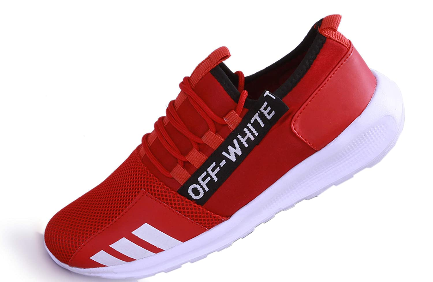 Buy Abh World Mens Trainers Athletic Walking Running Gyming Jogging Fitness  Sneakers/Sports Shoes Red (8) at Amazon.in