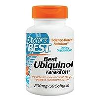 Doctor's Best | Ubiquinol mit Kaneka QH Ubiquinol | 200mg | 30 Weichkapseln | hochdosiert | pflanzlich | aus Hefe Fermentation | glutenfrei | sojafrei