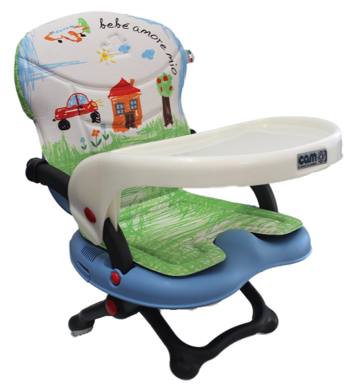 Trona, alzador de silla Smarty Pop Cam con pieza acolchada AZZURRO 222 CASETTA BABYONESHOP