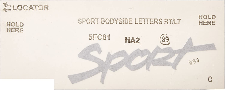 Chrysler Genuine 5FC81HA2 Body Side Decal