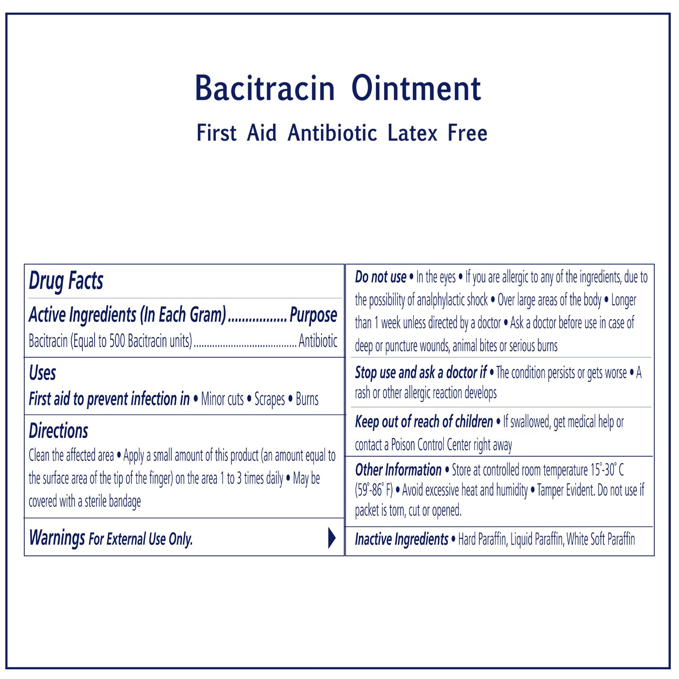 Bacitracin Ointment First Aid Antiseptic Antibiotic Cream by Sion Medical. Prevent Wound Infection, Aftercare Antibacterial, Skin Immediate Pain Relief. 144 Individual Packets to go 0.031 oz (0.9g) by Sion Biotext (Image #7)