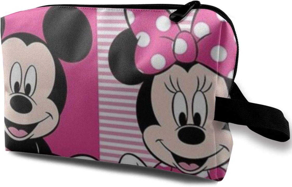 Neceser de Viaje de Mickey Minnie Mouse, Bolsa de Maquillaje, Bolsa de Aseo portátil para Mujer, Organizador de Almacenamiento Diario: Amazon.es: Equipaje