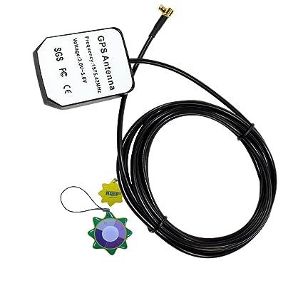 HQRP Antena externa GPS amplificada 1575.42 MHz de montaje magnético para Garmin Nuvi 680 (010