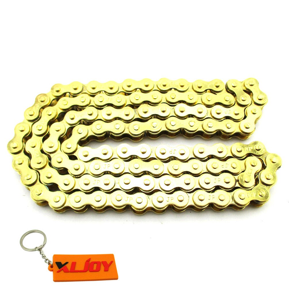 XLJOY 420 Chain For 110cc 125cc Chinese Pit Dirt Bike SSR Thumpstar XR50 CRF50 CRF70