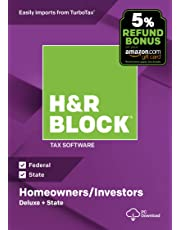 H&R Block Tax Software Deluxe + State 2018 with 5% Refund Bonus Offer [PC Download]