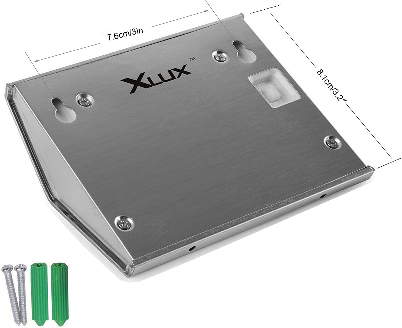 2 Pack Waterproof Warm White XLUX S60 Solar Stair Step Light Warm Light